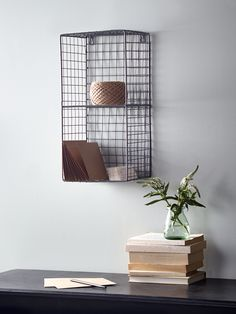NEW Wire Wall Rack - Small. For the hallway to store sunglasses, hats and gloves etc