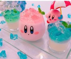 Find images and videos about aesthetic, geek and kirby on We Heart It - the app to get lost in what you love. Japanese Snacks, Japanese Food, Yummy Drinks, Yummy Food, Kawaii Dessert, Cute Desserts, Cafe Food, Aesthetic Food, Food Art