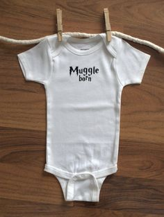 Harry Potter Onesie, Muggle Born Onesie, Muggle Born, Harry Potter Baby MORE COLORS. $13.99, via Etsy.