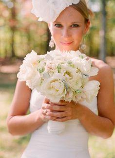 mixed white wedding flowers