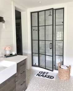 Are you looking for pictures for farmhouse bathroom? Check this out for amazing farmhouse bathroom inspiration. This unique farmhouse bathroom ideas seems to be absolutely brilliant. Modern Farmhouse Bathroom, Modern Farmhouse Style, Farmhouse Homes, Rustic Farmhouse, Farmhouse Interior, Farmhouse Design, Farmhouse Ideas, Farmhouse Shower Doors, Modern Shower Doors
