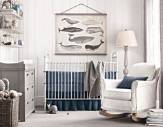 63 Rustic Baby Boy Nursery Room Design Ideas - About-Ruth Nautical Baby Nursery, Boy Nursery Colors, Nursery Design, Whale Nursery, Navy Nursery, Ocean Nursery, Elephant Nursery, Nursery Neutral, Vintage Nursery Boy