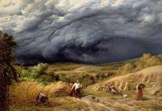 """""""Storm in Harvest"""" 1856 John Linnell (1792 - 1882)"""