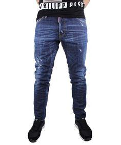 DSQUARED2 DSQUARED2 MEN'S BLUE COTTON JEANS. #dsquared2 #cloth #