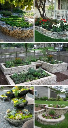 Stunning Stone Flower Beds You Can Easily Make (click through for more ideas!)