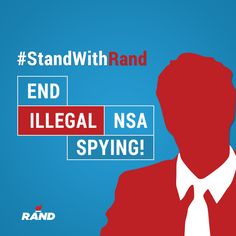 Facebook graphic from Rand Paul's presidential campaign asking people to support in him in his mission to end NSA spying. Let our team bring branding, creative content and digital strategy to your campaign or cause. Learn more about how to work with Harris Media here: www.harrismediallc.com
