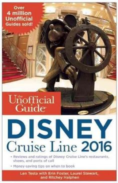 The Unofficial Guide to the Disney Cruise Line is a no-nonsense, consumer-oriented guide to Disney's cruise vacations. This detailed guide points out the best of Disney's ships and itineraries, includ