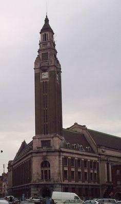 Belgique - Région Wallonne - Beffroi de l'Hôtel de ville de Charleroi