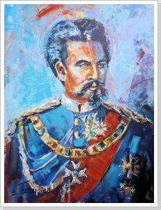 the blue King ( Ludwig II.) -Acryl auf Leinwand 80 x 100cm