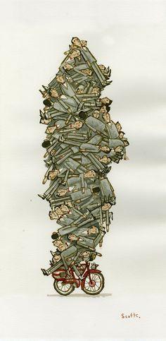 Pile of Pee Wees (art by @ScottLava)