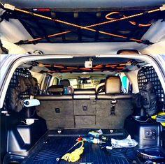Attic Storage Nest Ceiling net install in Toyota 2007 4runner, Overland 4runner, 4th Gen 4runner, Toyota 4runner Trd, Toyota Tacoma, 4runner Accessories, Silverado Accessories, Toyota Runner, Tactical Truck