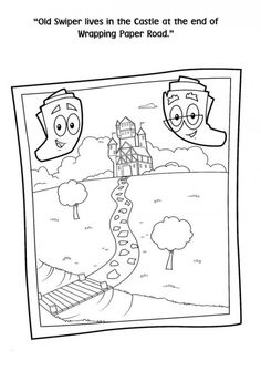 Map coloring page from Dora the Explorer TV series More Dora the