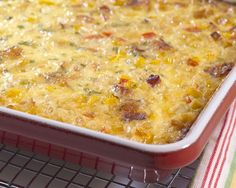Corn Pudding with Bacon and Leeks