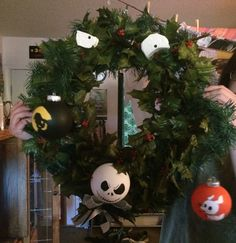 Nightmare Before Christmas Ribbon wreath