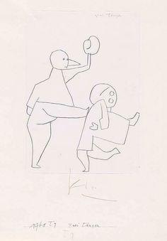 Paul Klee, Zwei Tänzer, 1940, Kreide auf Papier auf Karton, 29,7 x 21 cm