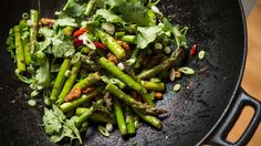 Wok-Fried Asparagus With Walnuts Recipe - NYT Cooking
