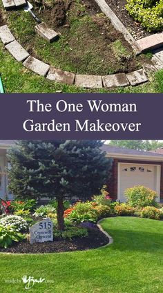 Makeover your garden easily without digging or breaking the bank. This garden ha. Makeover your garden easily without digging or breaking the bank. This garden has a huge change in one week by only one woman and minimal tools. Garden Yard Ideas, Lawn And Garden, Garden Projects, Garden Edging Ideas Cheap, Brick Garden Edging, Yard Edging, Stone Edging, Border Garden, Backyard Ideas