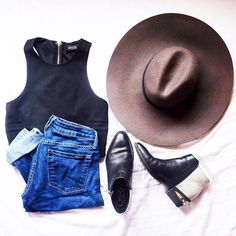 Watch out weekend, we're coming for you  #outfit via @captainoats92 f/ the Racerback Crop Top.