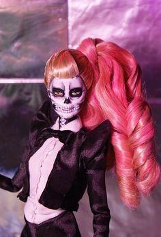 Barbie...OOAK (I think..) Lady Gaga inspired...pretty interesting doll.