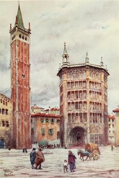 Parma baptistery and bell tower (W.W. Collins)