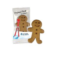 Wie wäre es mit einem Lebkuchen? Klassische Werbeartikel zur Weihnachtszeit! Gingerbread Cookies, Ginger Beard, Christmas Time, Gingerbread Cupcakes