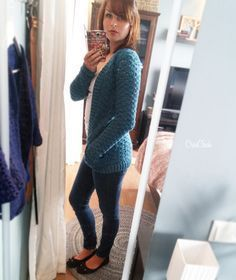 Crochet long sweater. Free pattern. Lang vest haken. Gratis patroon.