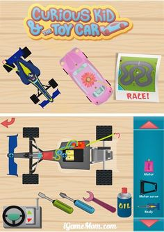 Fun app for young engineers - kids take apart cars and then put them back together. #kidsapps