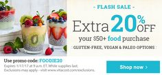 Flash Sale - Extra 20% off your $50+ food purchse. Use promo code: FOODIE20. Shop now