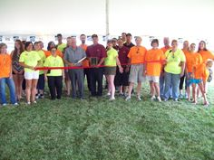 Our Volunteers and Mayor Rick Chapman opening the festival