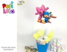 20 Cachepô Centro de mesa Pocoyo Scrap, Princess Peach, Pets, Fictional Characters, Character, Colors, Paper, Appliques, Christening