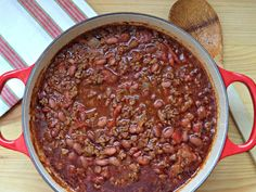 Basic Chili.  Simple and delicious food for a chilly winter night.