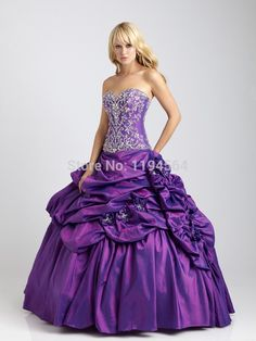 >> Click to Buy << 2014 Taffeta Purple Quinceanera Dresses Ball Gowns Masquerade Party for 15 Year Vestidos De Galae Embroidery Lace BQ322 #Affiliate