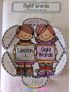 Teaching With Love and Laughter: First Grade Interactive Notebooks ideas Teaching Sight Words, Sight Word Activities, Reading Activities, Teaching Reading, Classroom Activities, Teaching Ideas, Guided Reading, Classroom Tools, Phonics Activities