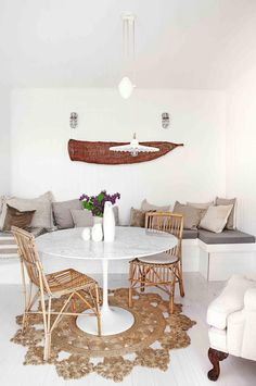 Great examples of white living rooms. Styling by Megan Morton. Photography by Kara Rosenlund.
