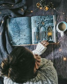 'Christmas was coming. One morning in mid-December, Hogwarts woke to find itself covered in several feet of snow. Girl Photography Poses, Creative Photography, Morning Photography, Photo Grid, Coffee And Books, Book Aesthetic, Christmas Aesthetic, Bookstagram, Girl Photos