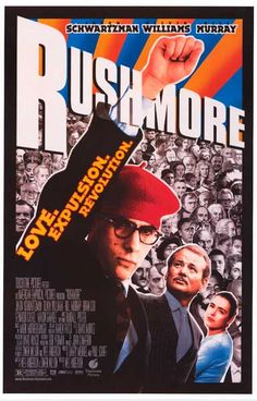 Love. Expulsion. Revolution. A sweet Rushmore poster - one of Wes Anderson's finest films! Starring Jason Schwartzman and Bill Murray. Ships fast. 11x17 inches. Check out the rest of our selection of