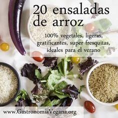 20 ensaladas de arroz veganas,