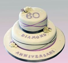 60th diamond wedding anniversary cake for my nan and grandpa's big day!