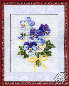 Bouquet Of Pansies - Cross Stitch Kits by RIOLIS - 792