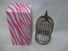 Pink Zebra Bird Cage Shade #PinkZebra #eBay