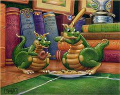 Love these dragons by Randal Spangler @ www.randalspangler.com