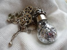 Glamorous Steampunk Necklace by MamaCassQueen on Etsy, $25.00