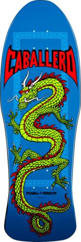 POWELL PERALTA Skateboard Deck CAB CHINESE DRAGON BLUE Old School Re-Issue