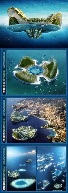 ♂ Futuristic architecture unique and creative concept building at Lilypad Ialand