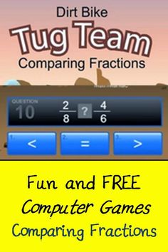 A fun way to help kids work on fluency with comparing fractions! Your students will love playing against the computer or other students.