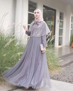 Dress Brokat Muslim, Dress Brokat Modern, Kebaya Modern Dress, Kebaya Dress, Dress Pesta, Muslim Dress, Hijab Prom Dress, Muslimah Wedding Dress, Hijab Style Dress