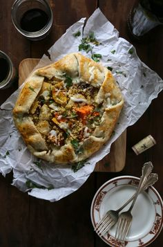 winter veggie quinoa tart
