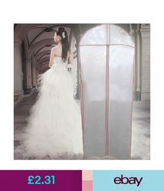 Clothing U0026 Shoe Care White Wedding Dress Storage Bag Gown Garment Cover  Protector Non Woven