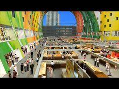 Expansive Rotterdam Market Hall Shaped Like A Giant Horse Shoe by MVRDV