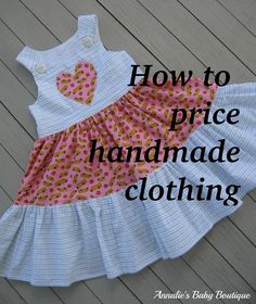 How to price handmade clothing and crafts